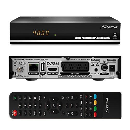 Strong SRT 7007 HD Sat Receiver (DVB-S/S2, Full HD, vorinstallierte Sender, USB Mediaplayer, HDMI,...