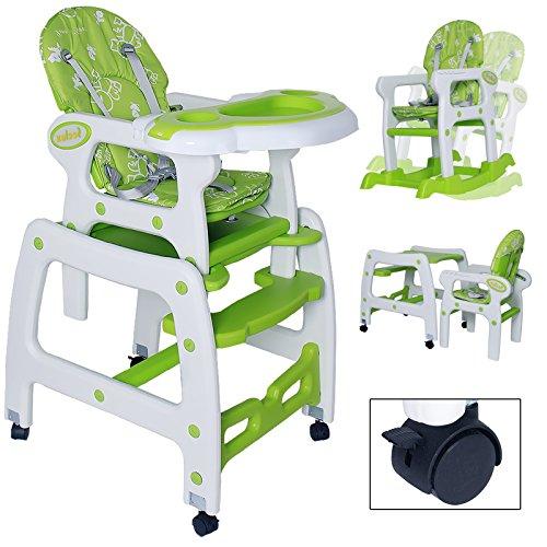 Seelux beweglicher 3 in 1 Multi Kinderhochstuhl mit Schaukelfunktion, Rollen mit Bremse, verstellbar...