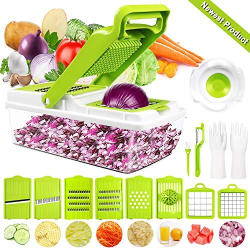 Gemüseschneider Gemüsehobel, DA Heng 9 in 1 Vielseitiger Gemüsehobel Kartoffelschneider...