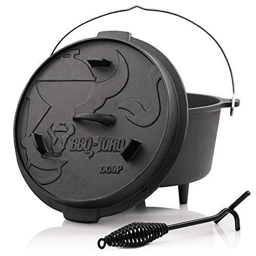 BBQ-Toro Dutch Oven Premium Serie I bereits eingebrannt - preseasoned I Verschiedene Größen I...