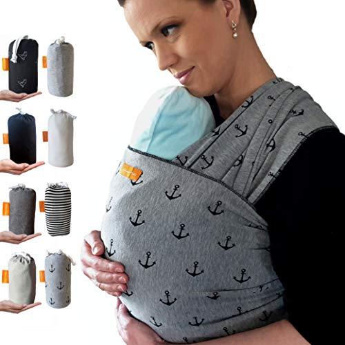 Kleiner Held® Babytragetuch - elastisches Baby Tragetuch - Babytragetuch für Früh- und...