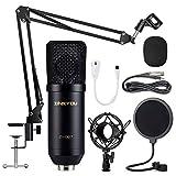 ZINGYOU Kondensator Mikrofon Set, Professionell Tisch Studio Mikrofon mit ArmStänder&Halter, ZY-007...