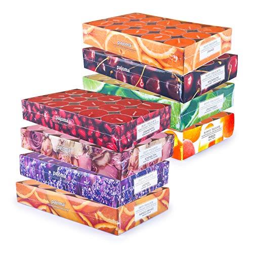 pajoma Duft Teelichte 240 Stück Duftkerzen frische fruchtige Frühjahr Sommer Düfte, 8X 30...