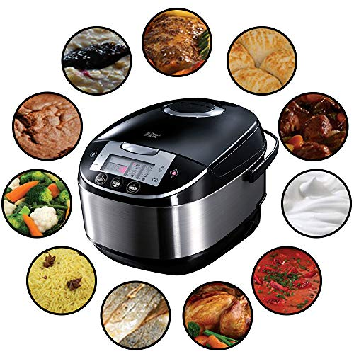Russell Hobbs Multicooker 5,0l (digitales Display + Timer), 11 Kochprogramme (Schongarer,...