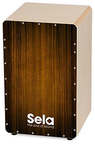 Sela 051 Varios Brown Snare Cajon mit Sela Snare System, geeignet für Anfänger und...