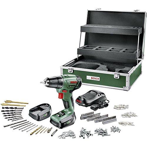 Bosch Akkuschrauber PSR 14,4 LI Toolbox Set (2 Akku, 14,4 Volt, 241 tlg. Zubehör Set, im Karton)