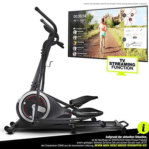 Sportstech Crosstrainer für zuhause   Ellipsentrainer mit Video Events & Multiplayer APP   24 kg...