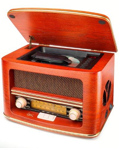 Dual NR 1 CD Nostalgieradio mit CD-Player (UKW-/MW-Tuner, Frequenzskala, Holzgehäuse,...