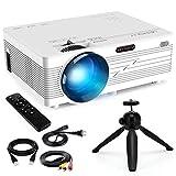 Merisny Mini Beamer mit Halterung, 3500 Lumen Tragbar LCD Video Projektor mit max 176' Display,...