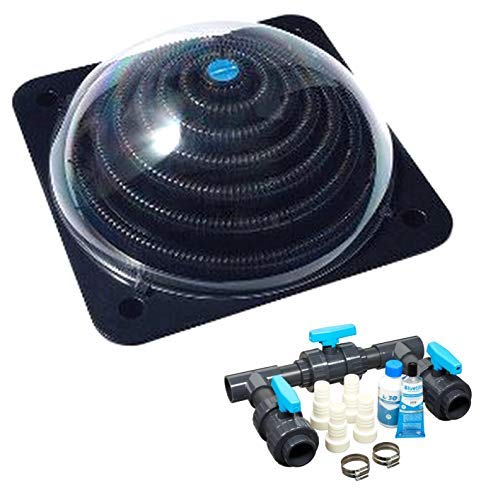 well2wellness® Pool Solarheizung Poolheizung Solar 'Powerkugel' Plus Bypass-Set Basic (023920)