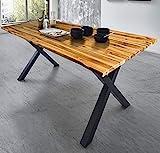 SAM Baumkantentisch 180x90 cm Placido, massiver Esszimmertisch, Akazienholz, echte Baumkante,...