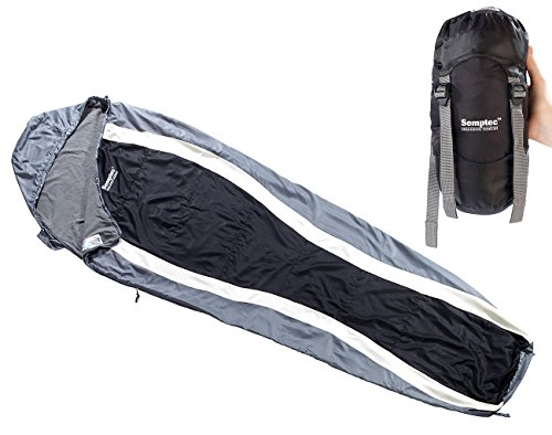 Semptec Urban Survival Technology Mumienschlafsack: Leichter Mumien-Schlafsack mit Fleece-Futter,...