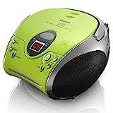 Lenco Radio CD-Player SCD-24 tragbares Stereo UKW-Radio mit CD-Player und Teleskopantenne in...