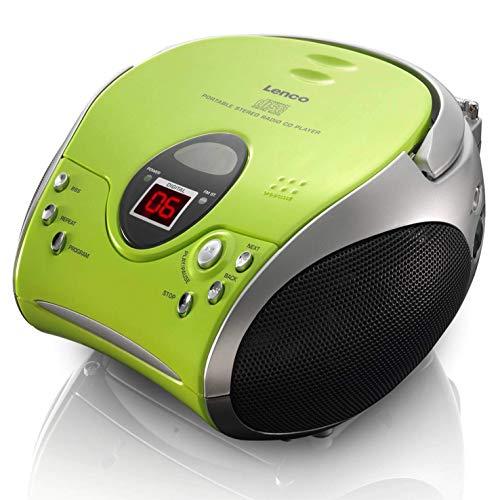 Lenco SCD24 - CD-Player für Kinder - CD-Radio - Stereoanlage - Boombox - UKW Radiotuner - Titel...