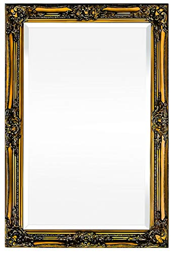Rococo by Casa Chic – Silberner Shabby Chic Wandspiegel – 90 x 60 cm – Handgefertigter Spiegel...