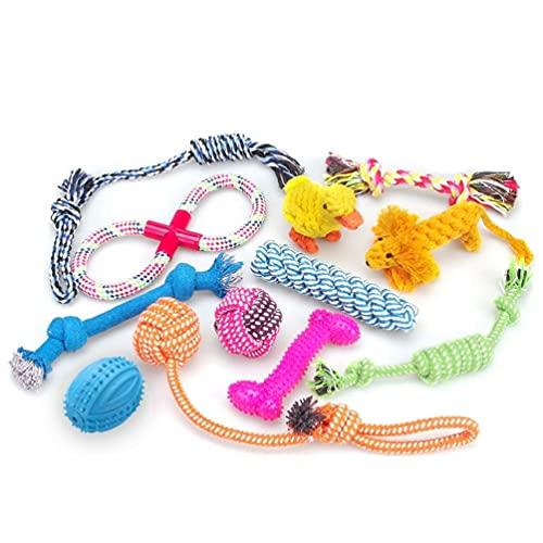 RoyalCare 12 Spielzeuge für Hunde, Kauspielzeug, Seil und Hundeball sind geeignet für kleine bis...