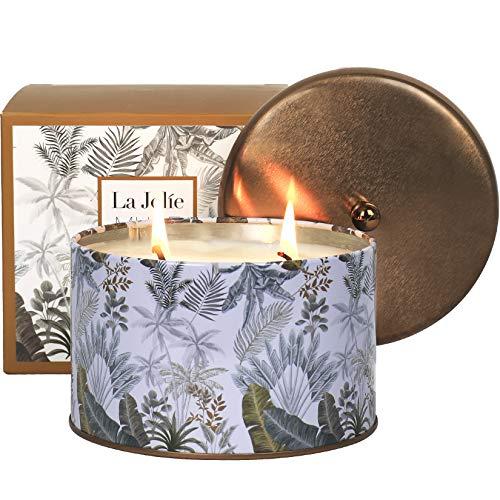 La Jolíe Muse Schwarzer Kaffee Duftkerze, 100% natürliche Kerze für zu Hause, 40-50 Stunden Lange...