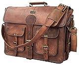 DHK 45,7 cm handgemachte vintage Leder Messenger-Tasche für Laptop Aktentasche Best Computer,...