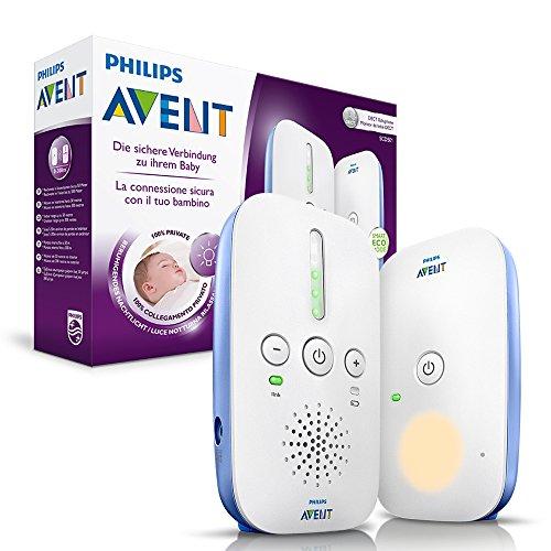 Philips Avent SCD501/00 Audio-Babyphone mit DECT-Technologie, Nachtlicht, Geräuschpegelanzeige,...