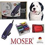 Rotschopf24 EDITION: Moser Tierschermaschine R33 Adjustable + 8 Edelstahl-Aufsteckkämme + Tasche....