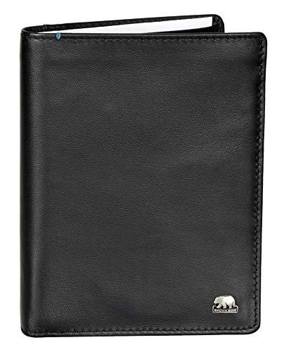 Brown Bear Brieftasche Herren Leder Farbe Schwarz mit RFID Schutz hochwertig Geldbörse ohne...