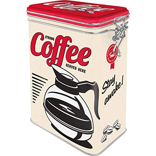 Nostalgic-Art 31105 USA - Strong Coffee Served Here | Retro Aromadose| Blech-Dose | Kaffee-Dose |...