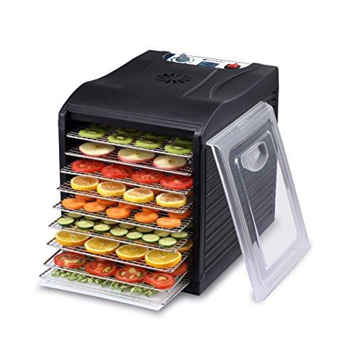HENDI Dörrautomat, Dehydrator, Dörrgerät, BPA frei, 9 Blechen, für Lebensmittel, Obst- Fleisch-...