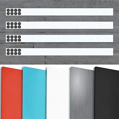Magnetleiste Büro im 4er Set   inklusive Magneten   als Magnet Wandleiste für Fotos, Dokumente,...