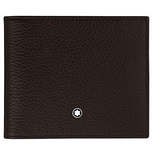 Montblanc Meisterstück Geldbeutel MST Soft Grain Wallet 8cc Münzbörse, Braun