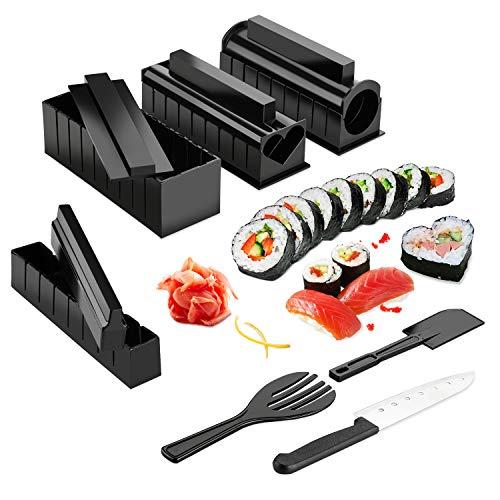 Sushi Maker Kit, AGPTEK 10 tlg Komplett Sushi Making Kit, 5 Formen DIY Selber Sushi Machen Set mit...