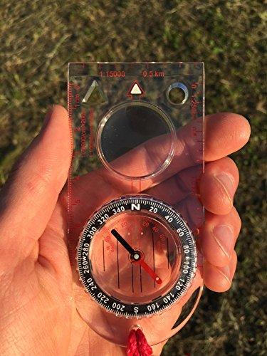 Reliable Outdoor Gear Kartenkompass (der ideale Kompass für Survival, Orientierung, Navigation,...