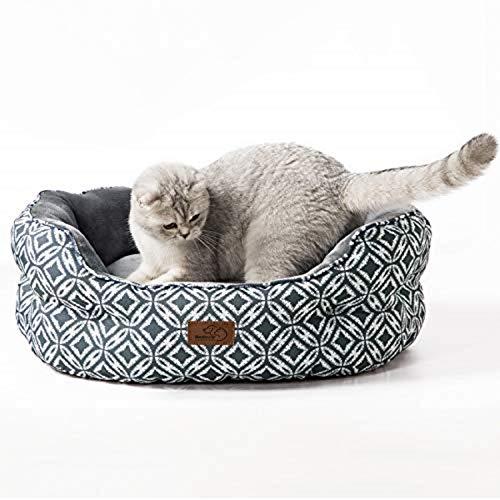 Bedsure Katzenbett Katzen Bettchen Gross - Katzen Bett mit Zweiseitig Innenkissen Waschbar...