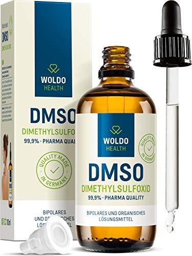 DMSO Pharma Qualität mit Pipette & Tropfverschluss - 99,9% Dimethylsulfoxid 100ml