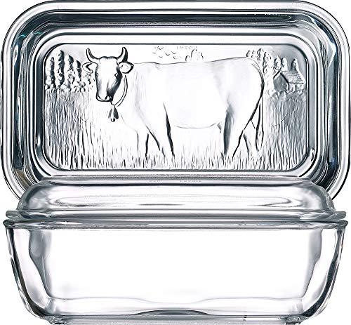 Luminarc 73115 Helper Butterdose, 10,5x17cm, Glas, transparent, 1 Stück