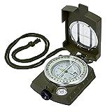 Proster Tragbare wasserdichte Navigationstasche mit Kompass aus Metall für Wandern, Camping,...