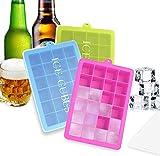 BSET BUY 3 Stück Eiswürfelform Silikon Eiswürfel Form Eiswürfelbehälter Eiswürfelbereiter mit...