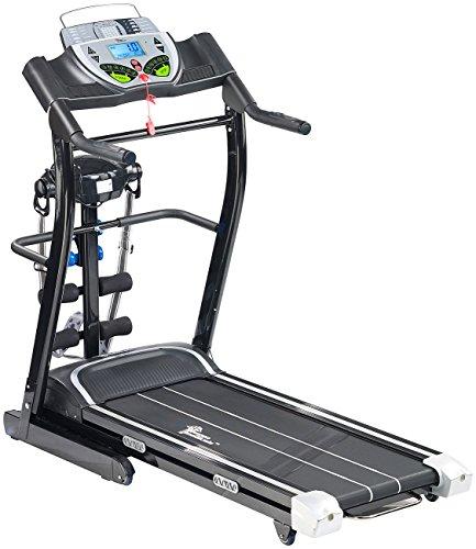 Newgen Medicals Laufband mit Massage: 2in1-Profi-Laufband mit Fitness-Station und Bandmassagegerät...
