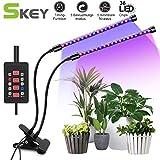 SKEY Doppelkopf Pflanzenlampe mit Zeitfunktion, Automatische EIN- / Ausschalten, 3 Arten von Modus....