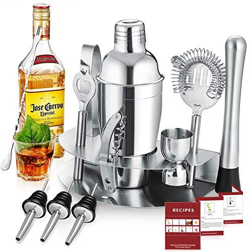 Gomyhom Cocktail Set 12-Teiliges Cocktail Shaker Geschenk, 750 ml Barkeeper, Bar Set mit...