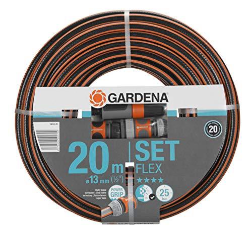 Gardena Comfort FLEX Schlauch 13 mm (1/2 Zoll), 20 m mit Systemteilen: Formstabiler, flexibler...