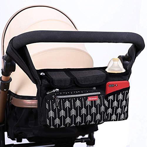 Lekebaby Kinderwagen Organizer Buggy Organizer Kinderwagentasche mit Isoliertem Getränkehalter...