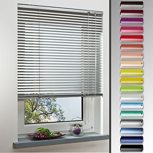 HOMELIA Alu-Jalousie, Aluminium-Jalousie / 150 x 130 weiß/Wand-und Deckenmontage, Rollo, Jalousie