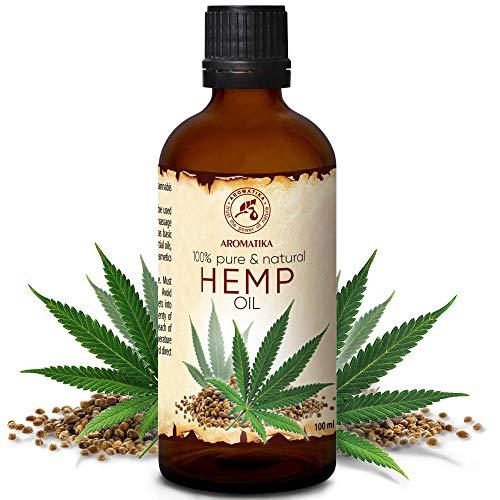 Hanföl 100ml - Cannabis Sativa Seed Oil - Kaltgepresst - 100% Reines & Natürlich - Glasflasche -...