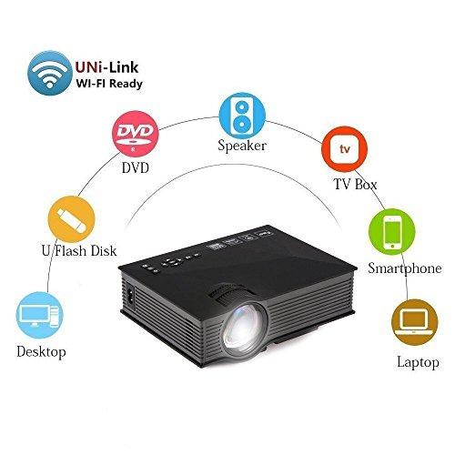 UVISTAR UC46 Mini Beamer LCD LED Portbaler HD Projektor WiFi TV Heimkino Videoprojektor Unterstützt...