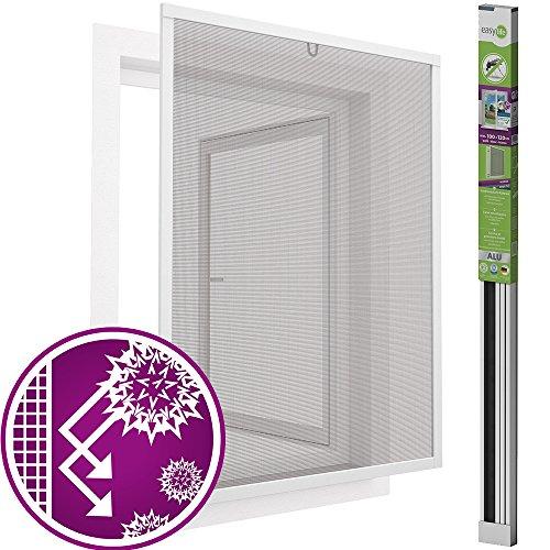 easy life Pollenschutz Alu Fenster ALLERGICpro 100 x 120 cm in Weiß Insektenschutz Fenster easyLINE...