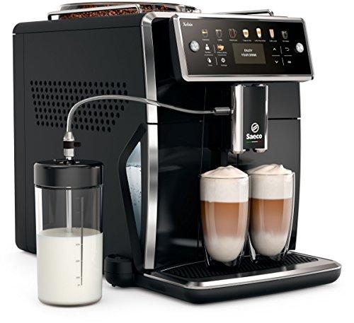 Saeco SM7580/00 Xelsis Kaffeevollautomat, 12 Kaffeespezialitäten (LED-Display mit Direktwahltasten,...