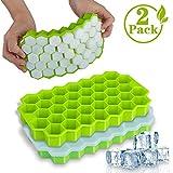 NEEGO Eiswürfelform Silikon Eiswuerfel Form Eiswuerfelbehaelter 2 Stück