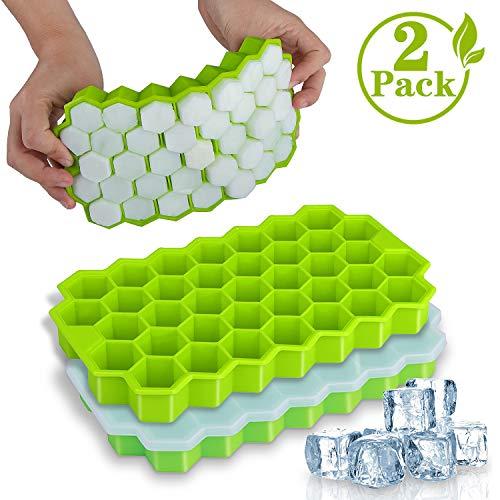 37-Fach Eiswürfelform, iNeego Eiswürfelbehälter mit Deckel Silikon Ice Cube Tray BPA Frei...