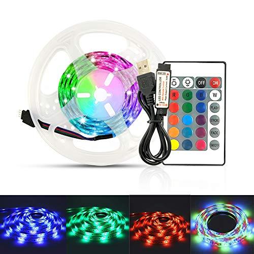 LED-Lichtleiste, LED-Farblichtleiste, LED-Lichtkette, Fernbedienung mit 24 dimmbaren Tasten, die...