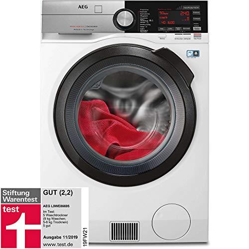 AEG L9WE86695 Waschtrockner mit Wärmepumpe / SensiDry – schonend und energiesparend / 9,0 kg...